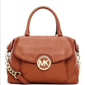 Michael Kors Large Fulton pebbled leather satchel